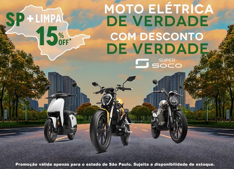 Moto elétrica de verdade com 15% OFF.