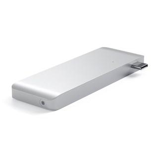 Adaptador HUB USB-C PassThrough Prata - Satechi