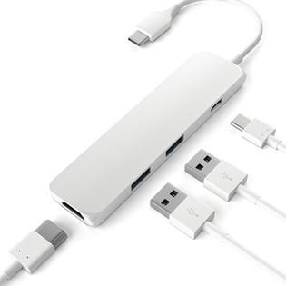 Adaptador Multi Portas Tipo-c para Macbook USB - Satechi