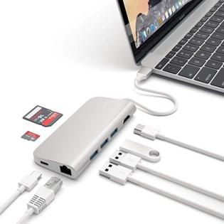 Adaptador Multiportas Usb-c 4k Com Ethernet Prata - Satechi