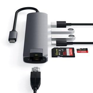 Adaptador Multiportas USB-C Com Adaptador Ethernet- Satechi