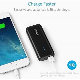 Bateria Externa Anker Astro E1 de 5200mAh com entrada USB - Preto
