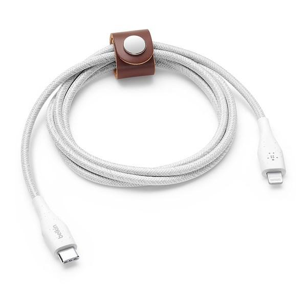 Cabo BOOSTCHARGE USB-C para Lightning com correia 1,2m