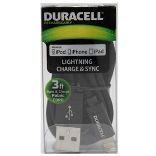 Cabo Lightning 90cm Preto Apple MFI - Duracell