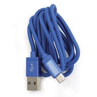 Cabo micro USB 3 metros azul - Duracell