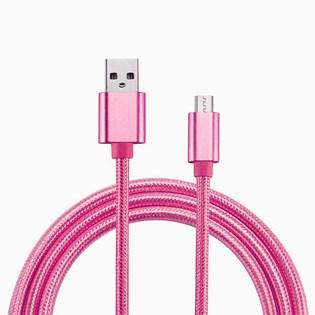 Cabo micro USB 3 metros rosa - Duracell