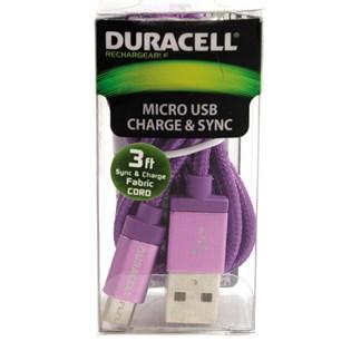 Cabo micro USB 3 metros roxo - Duracell