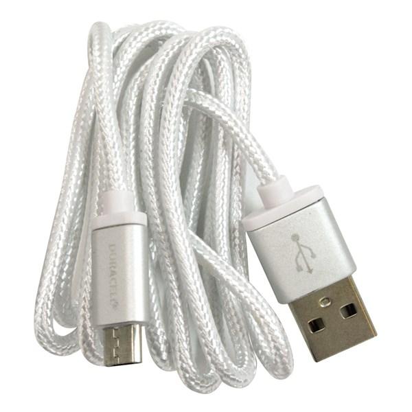 Cabo micro USB 90 cm branco - Duracell