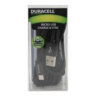 Cabo micro USB 90cm preto - Duracell