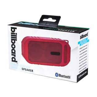 Caixa de som Bluetooth resistente a água vermelha Billboard