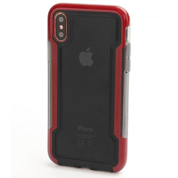 Capa Defense Clear para iPhone X Vermelha - X-Doria