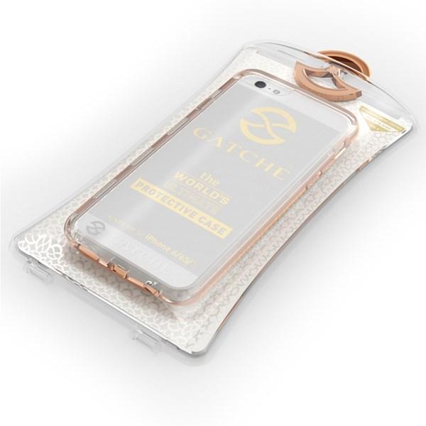 Capa Híbrida para iPhone 8/7/6S/6 Ouro Rosé - Gatche