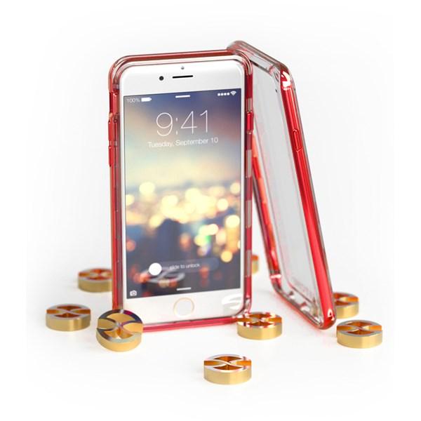 Capa Híbrida para iPhone 8/7/6S/6 Plus Red - Gatche