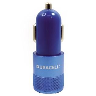 Carregador automotivo com duplo USB 2.1A azul - Duracell