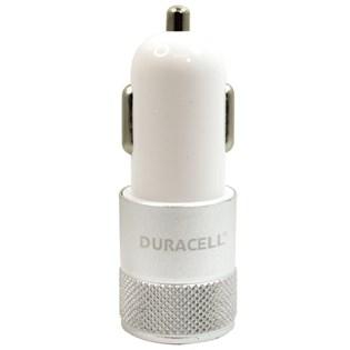 Carregador automotivo com duplo USB 2.1A branco - Duracell