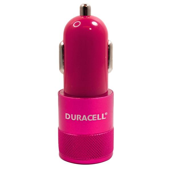 Carregador automotivo com duplo USB 2.1A rosa - Duracell
