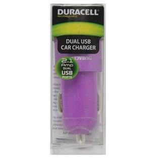 Carregador automotivo com duplo USB 2.1A roxo - Duracell