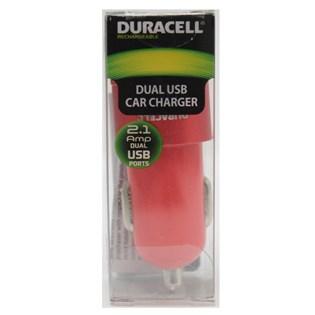 Carregador automotivo com duplo USB 2.1A vermelho -Duracell