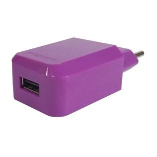 Carregador de parede USB roxo - Duracell