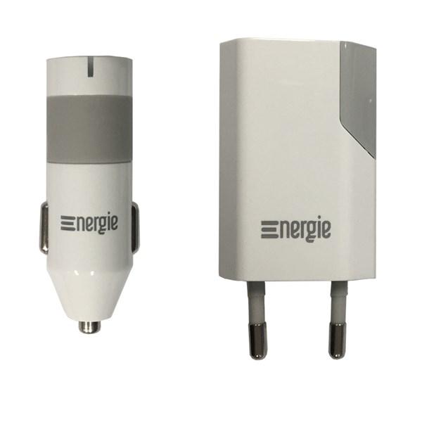 Carregador  USB Universal de carro e de parede - Energie
