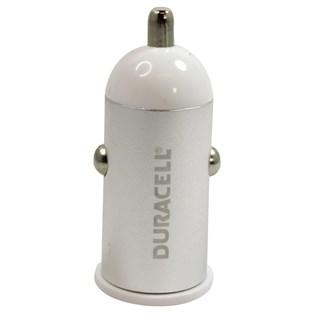 Carregador veicular USB 1.0A Branco - Duracell