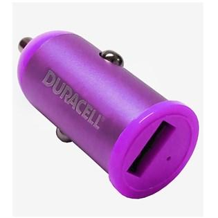 Carregador veicular USB 1.0A Roxo - Duracell