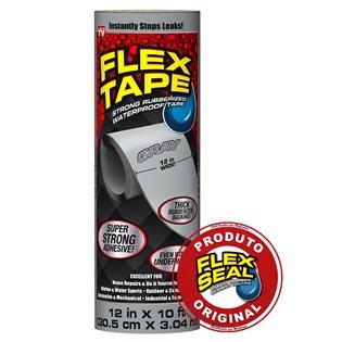 Flex Tape Fita Multi-Aplicação Cinza - 30 x 300 cm