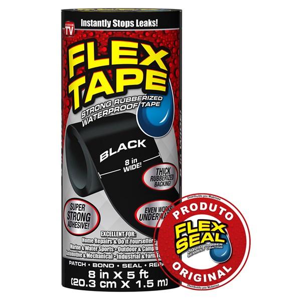Flex Tape Fita Multi-Aplicação Preto - 20 x 150 cm
