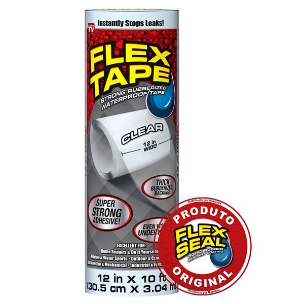 Flex Tape Fita Multi-Aplicação Transparente - 30 x 300 cm