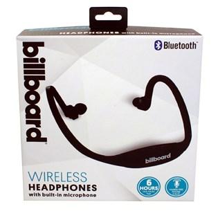 Fone de ouvido Bluetooth para esportes preto - Billboard