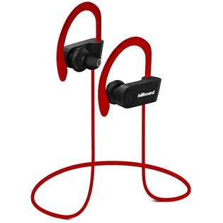 Fone de ouvido Bluetooth para esportes vermelho - Billboard