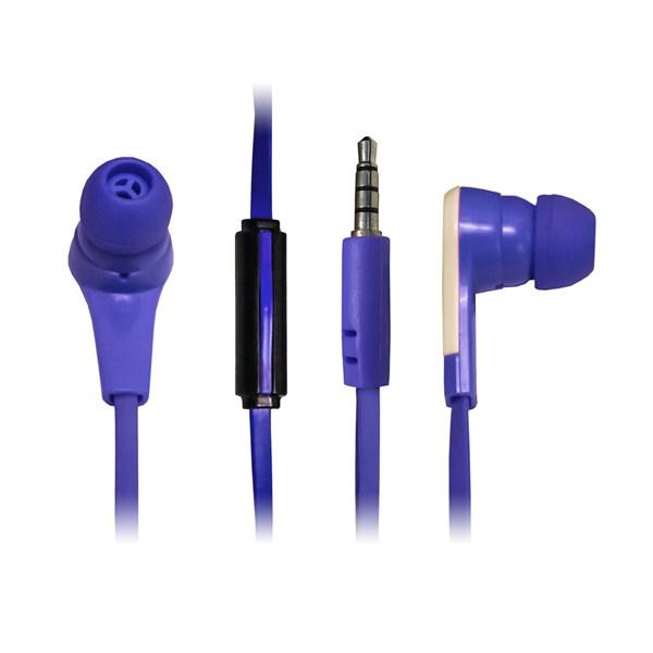Fone de ouvido com microfone azul - Duracell