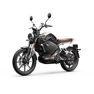 """Motocicleta Elétrica Modelo TC com Motor de 1500W até 3000W Rodas 17"""" Preta - Super Soco"""