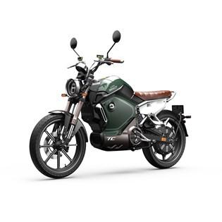 """Motocicleta Elétrica Modelo TC com Motor de 1500W até 3000W Rodas 17"""" Verde - Super Soco"""