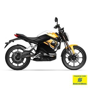 """Motocicleta Elétrica Modelo TSX com Motor de 1500W até 3000W Rodas 17"""" Laranja - Super Soco"""