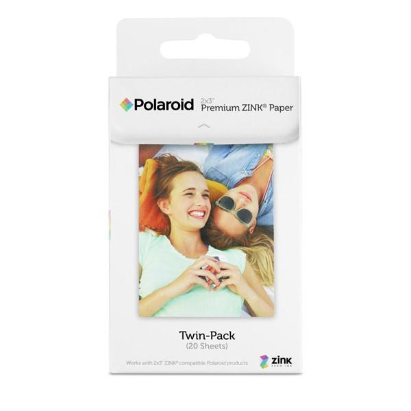 Papel fotográfico pack 20 folhas - Polaroid
