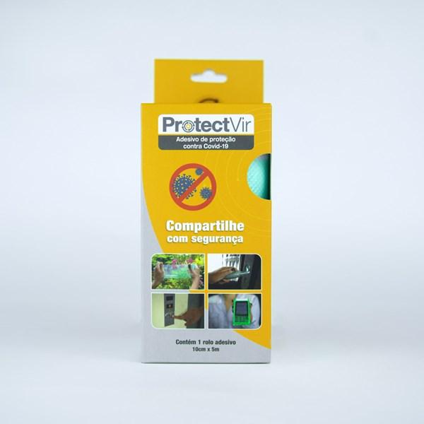 Película Adesiva Proteção Antiviral 10cm x 5m - Translúcido