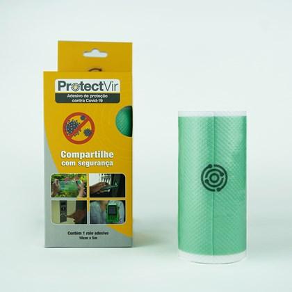 Película Adesiva Proteção Antiviral 10cm x 5m - Verde