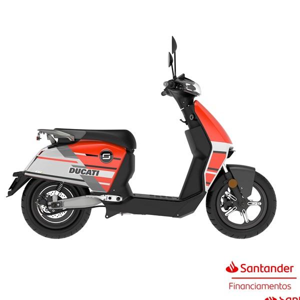 """Scooter Elétrica CUX Ducati Vermelha - Motor de 1300W até 2788W Rodas 12"""" - Super Soco"""