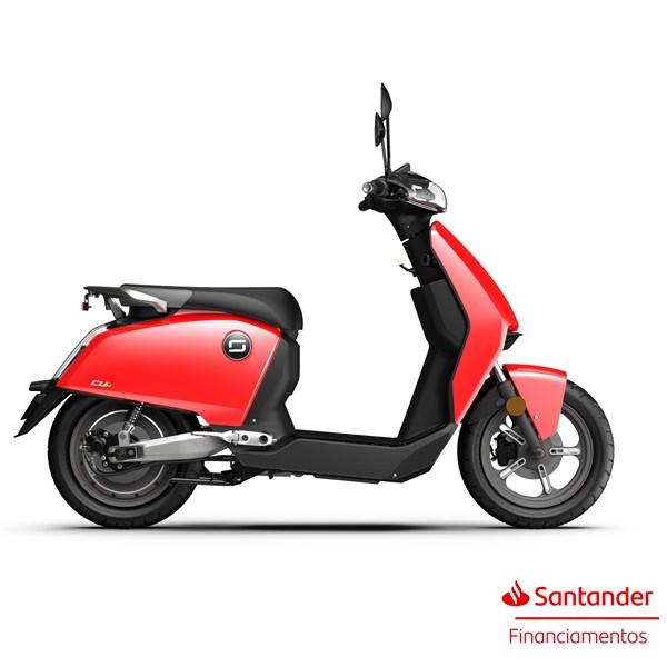 """Scooter Elétrica CUX Vermelha - Motor de 1300W até 2788W Rodas 12"""" - Super Soco"""