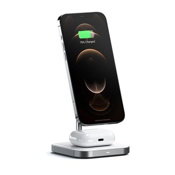 Suporte Carregamento magnético 2 em 1 P/ iPhone 12- Satechi