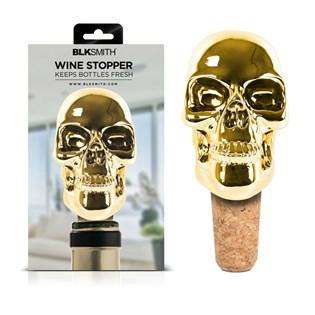 Tampa para garrafas de vinho Caveira Dourada - BLKSMITH